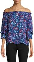 Parker Women's Off The Shoulder Printed Blouse