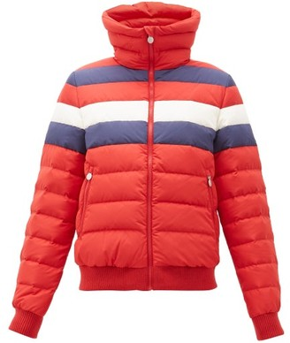 Perfect Moment Queenie Striped Down-filled Jacket - Womens - Red Multi
