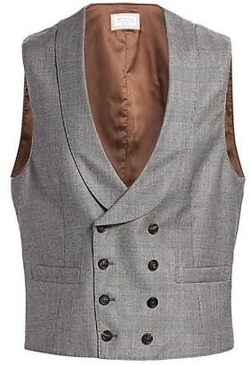 Brunello Cucinelli Wool Glen Plaid Vest
