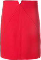 Courreges panelled A-line skirt