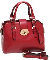 MG Collection Roxc Classic Red Tote Purse Convertible Satchel Bag