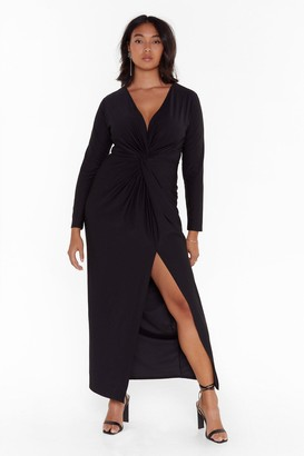 Nasty Gal Don't Twist the Truth Plus Maxi Dress