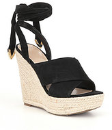 GUESS Oshira Espadrille Ankle Tie Wedge Sandals