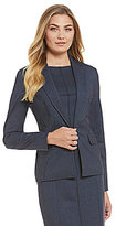 Jones New York Melange Printed Ponte Blazer