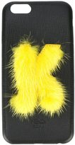 Fendi 'ABCover K' iPhone 6 hard case - women - Calf Leather/Mink Fur/Suede - One Size