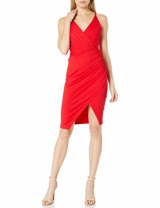 Susana Monaco Women's Gathered Wrap Front Slit Dress