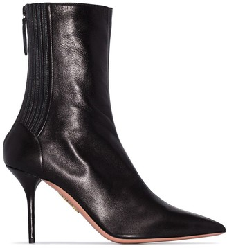 Aquazzura Saint Honore 85 Leather Boots