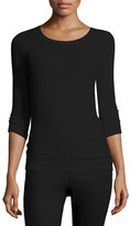 ATM Anthony Thomas Melillo Jackie Knit Ballet Top, Black