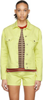 MSGM Yellow Denim Logo Jacket