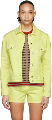 MSGM Yellow Denim Logo Jacket