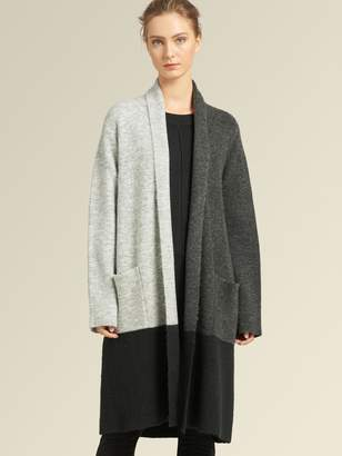 DKNY Colorblock Open-front Cardigan