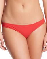 Karla Colletto Basic Hip Pant Swim Bikini Bottom, Cherry