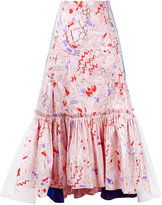 Peter Pilotto abstract printed pleated skirt