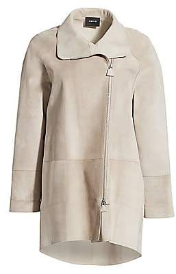 Akris Women's Fairy Suede Waterproof Coat