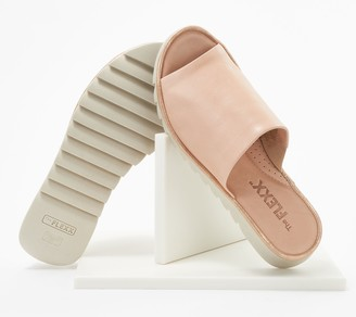 The Flexx Leather Slide Sandals - Shore Thing