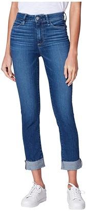 Paige Hoxton Slim Crop w/ 2 Raw Hem Cuff Jeans in Shrine (Shrine) Women's Jeans