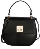 Celine Dion Minuet Faux Leather Top Handle Satchel - Black