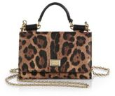 Dolce & Gabbana Leopard-Print Mini Chain Crossbody Bag