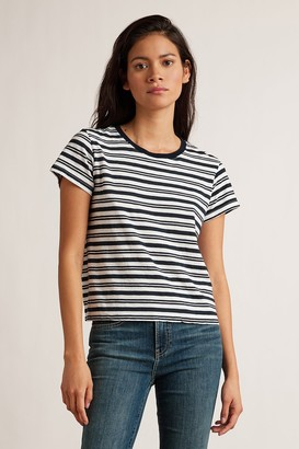 Velvet by Graham & Spencer Mia Stripe Jersey Short Sleeve Crew Neck Tee