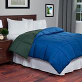 Lavish Home Reversible Green/Navy Down Alternative Twin Comforter