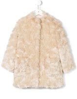 Simonetta fur effect coat - kids - Polyester/Acetate - 6 yrs