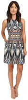 Christin Michaels Rogue Sleeveless Printed Scuba Dress