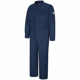 Bulwark Flame Resistant 9 oz Cotton/Nylon Excel FR ComforTouch Regular Premium Coverall with Concealed Snap Closure On Sleeve Cuff