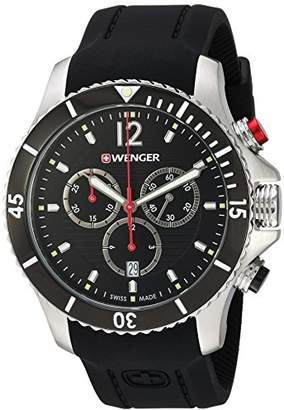 Wenger Men's Seaforce Chrono Stainless-Steel Swiss-Quartz Watch with Silicone Strap