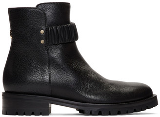 Jimmy Choo Black Leather Holst Flat Boots