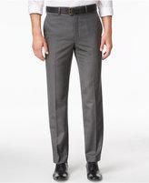 Lauren Ralph Lauren Men's Microfiber Classic-Fit Gray Herringbone Dress Pants