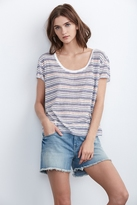 Peni Stripe Textured Knit Tee