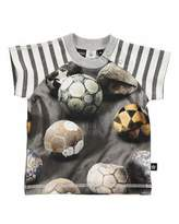 Molo Egon Raglan Soccer Ball Jersey Tee, Gray, Size 3-18 Months