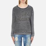 Maison Scotch Women's Basic Burn Out Theme Sweatshirt Grey