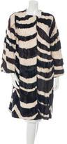 Marni Striped Goat Fur Coat