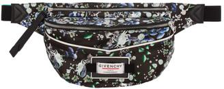 Givenchy Black Flower Print Downtown Bum Bag