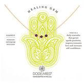 Dogeared Garnet Healing Gem Necklace