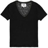 Swildens Sale - Qincy Gold Trim Linen T-Shirt