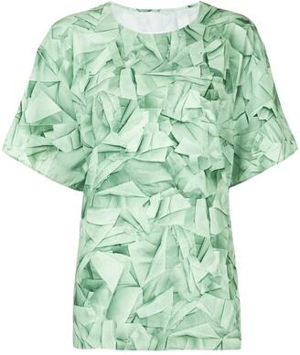 MM6 MAISON MARGIELA crushed print T-shirt