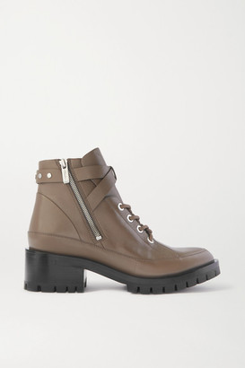3.1 Phillip Lim + Space For Giants Hayett Lace-up Leather Ankle Boots - Taupe