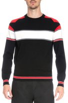 Givenchy Intarsia Colorblock Long-Sleeve Sweater, Black/Red