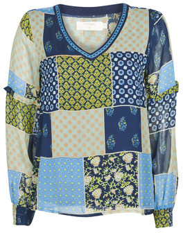 Cream CLODIE women's Blouse in Blue