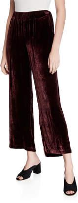Eileen Fisher Velvet Wide-Leg Ankle Pants