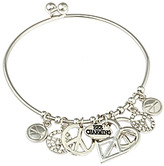 Bee Charming Silver Peace Bangle