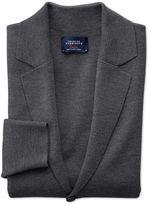 Charles Tyrwhitt Charcoal Merino Wool Blazer Size Large