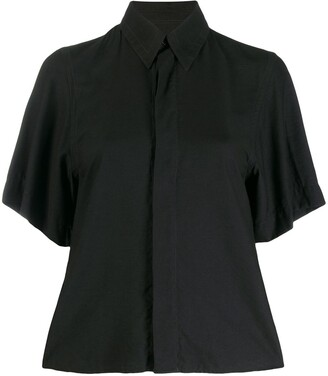 AMI Paris Concealed Fastening Short-Sleeve Shirt