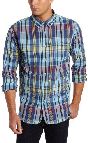 Nautica Men's Long Sleeve Vineyard Poplin Madras Plaid Shirt