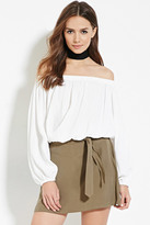 Forever 21 FOREVER 21+ Contemporary Belted Mini Skirt