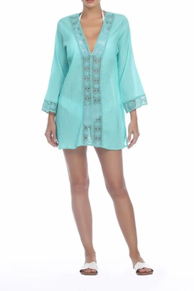BOHO ME Lace Trim Cover-Up Tunic