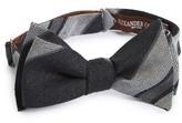 Alexander Olch Men's Stripe Linen Bow Tie