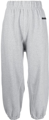 Moschino Loose Fit Sequin Logo Track Pants